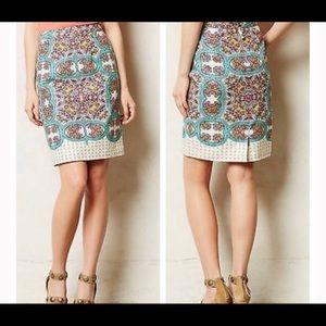 Anthropologie Maeve Manolya Linen Blend Skirt Sz 0